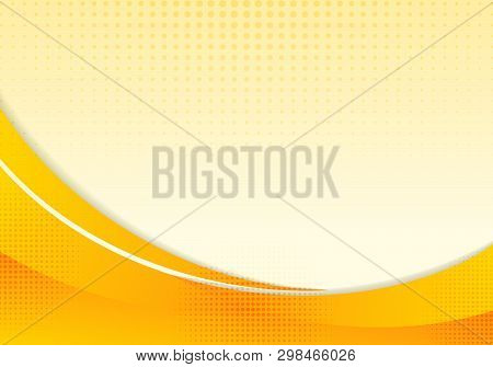 Abstract Yellow Waves Or Curved Professional Business Design Layout Template Or Corporate Banner Web