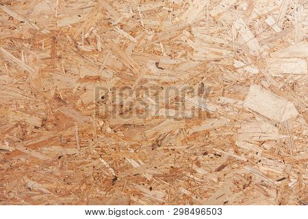 Chipboard (fiberboard) texture. Wooden material - image poster