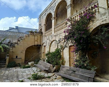 Gozo Malta,- Circa September 2018 - Gozo Heritage Building In Much Need Of Repair And Now On The Mar