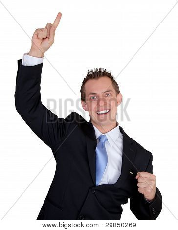 Excited Business Man