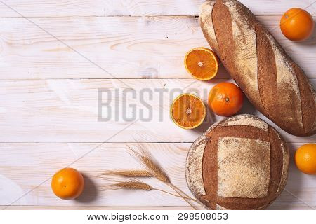 Bread With Orange Citrus Fruits