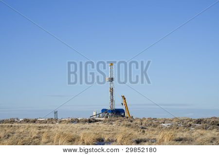 Distant Drill Rig