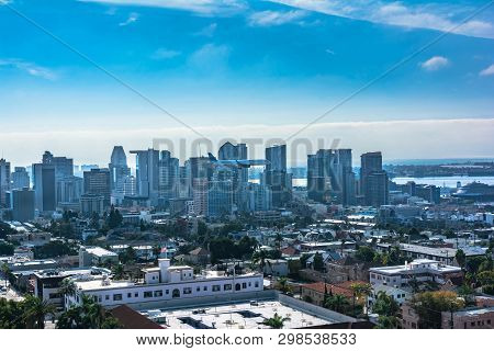 Downtown San Diego View From Above, California