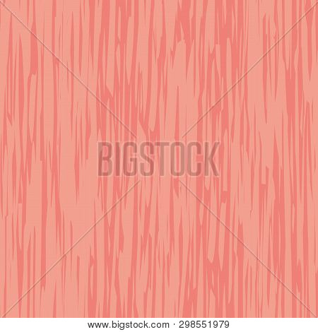 Abstract Coral Painterly Brush Stroke Effect Texture. Vector Seamless Pattern With Vertical Directio