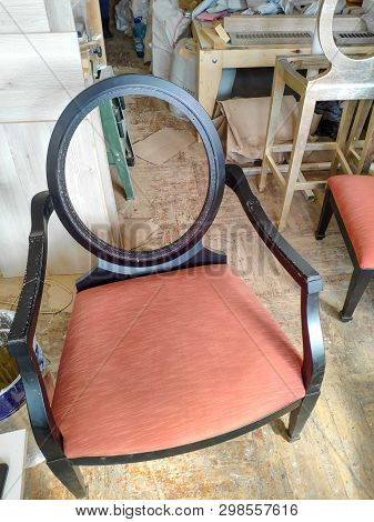 Manufacturing And Repair Of Furniture. Furniture Production, Handmade Wooden Furniture. Industrial P