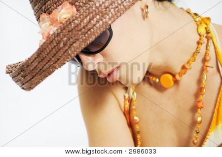 Summer Beauty With Sunglasses