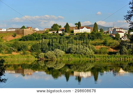 Minho River; Between Spain And Portugal, Reflexes Of Moncao