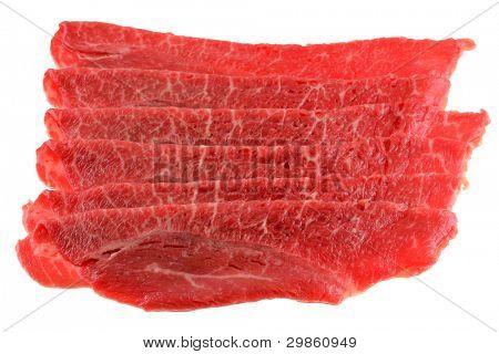 Freshly sliced Bulgogi beef to make Korean BBQ Dish poster