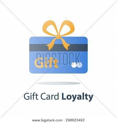 Gift Card, Loyalty Program, Perks Concept, Vector Icon, Flat Illustration