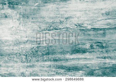 Gray-green Paint Stains On Canvas. Abstract Illustration With Grey And Green Blots On Soft Backgroun