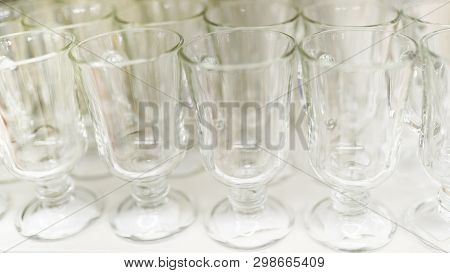 Glass Stemware Of Different Sizes In Market