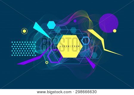 Abstract Background Composition Of The Geometric Shapes. Modern Abstract Design Poster, Cover, Banne