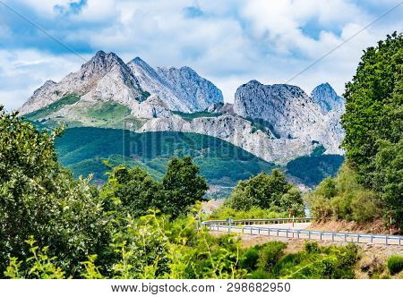 Mountains Of Picos De Europa. Cantabrian, Riano, Province Of Leon. Castile And Leon, Northern Spain