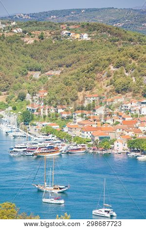 Skradin, Croatia, Europe - Sailing Ships At The Harbor Of Skradin