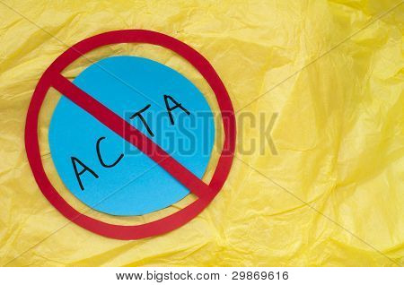 Acta Conception Text On Yellow Paper
