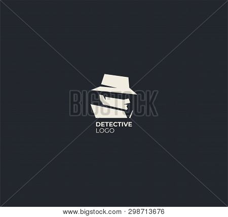 Spy Detective Logo Design Template. Criminal Internet Hacker Logo. Investigation Concept. Detective
