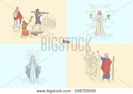 Bible Story Plots, Myth And Legends, Biblical Characters, Noah Ark, God Creating World, Moses Prophe