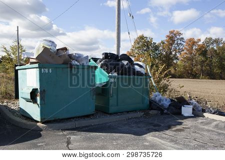 Human Consumption Waste Bins Garbage Collection Pile Containers
