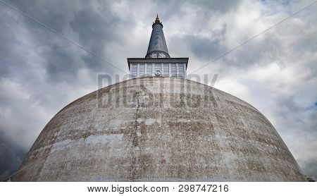 White Stupa, Known As Ruwanwelisaya Stupa In Anuradhapura Sity. This 140-bce Stupa Is An Ancient, Sa
