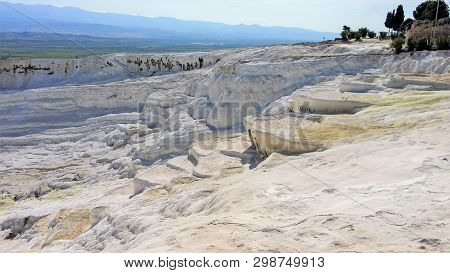 Pamukkale, Turkey_1. Water Jets Coming From The Ancient City Of Hierapolis, Rich In Mineral Salts, F