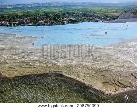 Pamukkale, Turkey_4. Water Jets Coming From The Ancient City Of Hierapolis, Rich In Mineral Salts, F