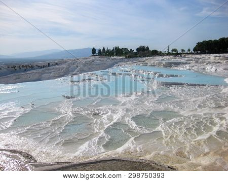 Pamukkale, Turkey_5. Water Jets Coming From The Ancient City Of Hierapolis, Rich In Mineral Salts, F