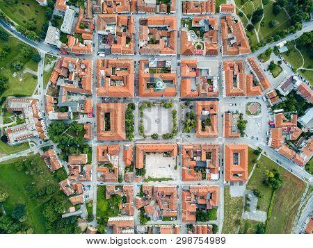 Karlovac City Center, Inside Six-pointed Star-shaped Renaissance Fortress Built Against Ottomans, Cr