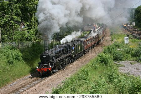 Black Five Steam Locomotive Number 44871 At Dore On A Charter Train 12th June 2010 - Dore, Sheffield
