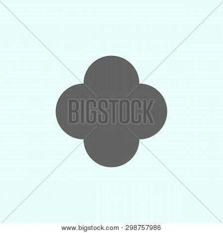 Geometric Figures, Quatrefoil Icon. Elements Of Geometric Figures Illustration Icon. Signs And Symbo