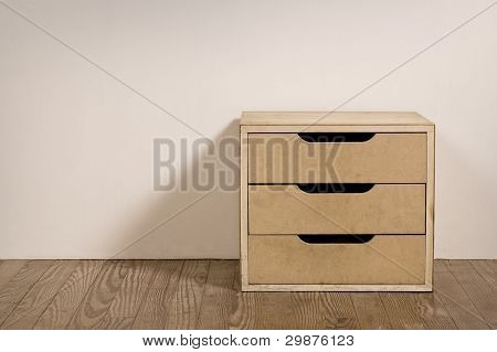 Old Room Interior With Chest Drawer.