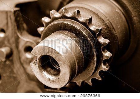 Closeup Engine Shaft