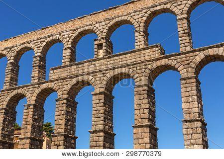 Segovia Aqueduct, ruins of ancient Rome, Segovia, Spain