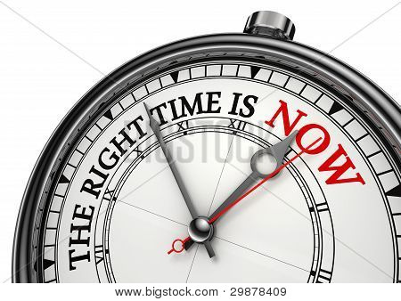 Now The Right Time Concept Clock