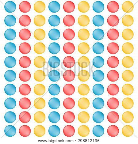 Set of delicious colorful sweetmeats. Candy pattern. Tasty product. Food design.  Vector illustration. poster