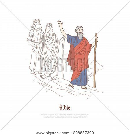 Moses Prophet, Legendary Figure, Bible Story, Myth And Legends, Biblical Narrative, Characters Banne