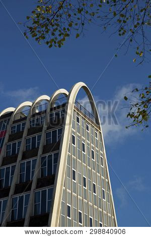 Manchester, Greater Manchester, Uk, October 2013, View Of The Famous Building Known As The Toast Rac