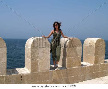 Girl On A Fortification
