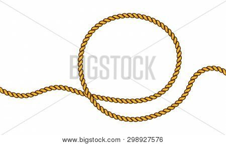 Realistic Fiber Ropes. Military Fleet, Sailing On Ship, Boat, Ship. Vector Illustration. Decorative