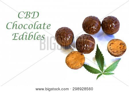 CBD Edibles. Chocolate CBD and THC Infused Edibles. Chocolate Pot Truffles.  Desert. Medical and recreational marijuana and cannabis.
