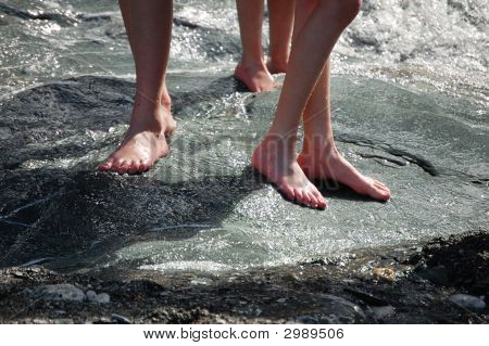Bare Feet In Water