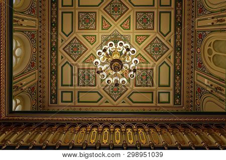 Russia, Saint Petersburg - July 05, 2017: The Choral Synagogue Interior. Construction Was Completed