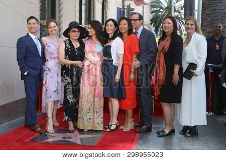 LOS ANGELES - MAY 1:  Lucy Liu, Family, Guests at the Lucy Liu Star Ceremony on the Hollywood Walk of Fame on May 1, 2019 in Los Angeles, CA