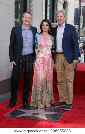 LOS ANGELES - MAY 1:  Guest, Lucy Liu, David E. Kelley at the Lucy Liu Star Ceremony on the Hollywood Walk of Fame on May 1, 2019 in Los Angeles, CA