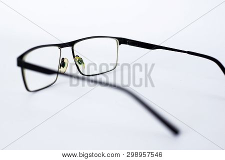 Glasses For The Visually Impaired, Poorly Sighted.glasses With Aspherical Astigmatic Lenses  In Blac