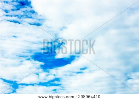 Sky Background With White Clouds.