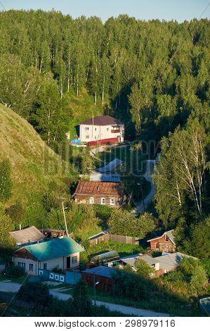 The Residential Houses In The Piedmont (old Posad ) Near Tobolsk Kremlin.  Tobolsk. Russia