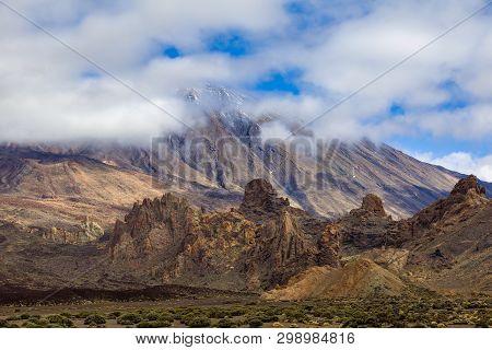 Volcano Pico Del Teide Is Spain's Highest Mountain