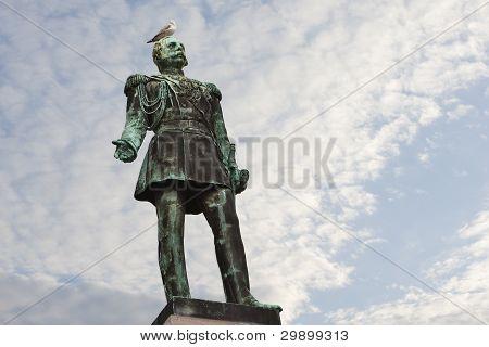 helsinki: statue of czar alexander ii
