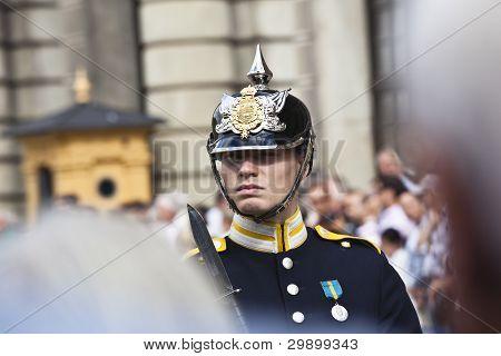 stockholm: swedish royal guard