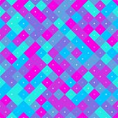 Violet and blue seamless colorful repetitive pattern with pixel squares. Vector illustration for your graphic design. poster